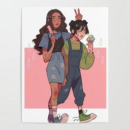 katara & toph Poster