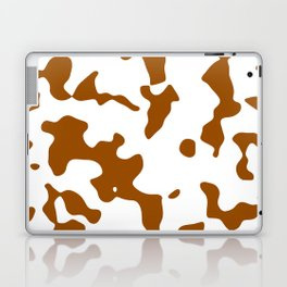 Large Spots - White and Brown Laptop & iPad Skin