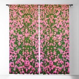 Mirrored Blossoms Blackout Curtain