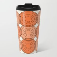 Red & Orange Circles Metal Travel Mug