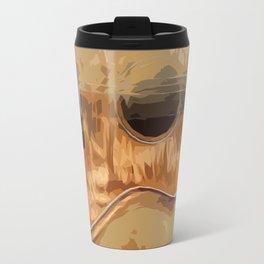 Guitar fractal brown back Travel Mug