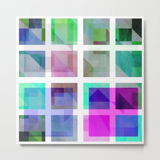 January Cubes Metal Print