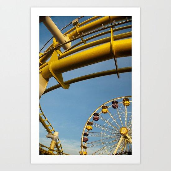 Santa Monica pier 3 Art Print