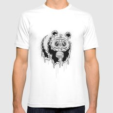 Choked Panda White MEDIUM Mens Fitted Tee