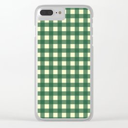 FORREST GREEN CHECK Clear iPhone Case