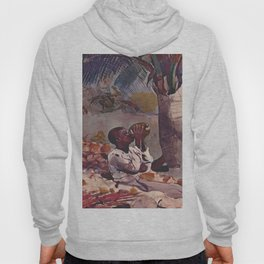 Under The Coco(nut) Palm 1898 By WinslowHomer | Reproduction Hoody