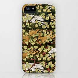 Weimaraners and Hares iPhone Case