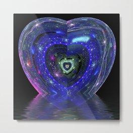 Magic Blue Heart Metal Print