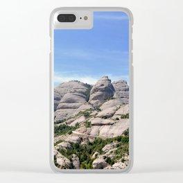 Landscape of Montserrat mountain in Catalonia, Spain Clear iPhone Case