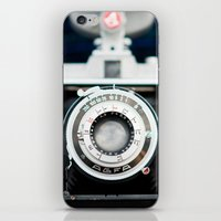 vintage camera iPhone & iPod Skins featuring Vintage Camera by Kurt Rahn