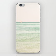 Nautical Red Sailboat iPhone & iPod Skin