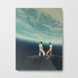 The Earth was crying and We were there Metal Print