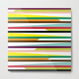 Geometric Pattern #72 (colorful stripes) Metal Print