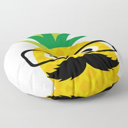 Pinapple Dad Pineapple with Mustache and Glasses Floor Pillow