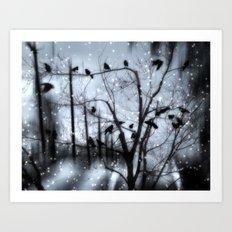 Gothic Snow Art Print