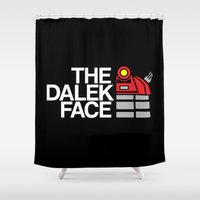 dalek Shower Curtains featuring The Dalek Face by Buby87