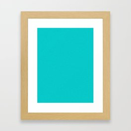 Cyan Light Pixel Dust Framed Art Print
