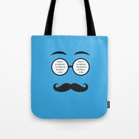 geek Tote Bags featuring Geek by Nora