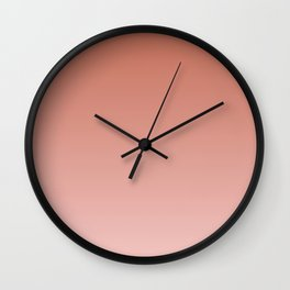 ENGLISH ROSE color Ombre pattern Wall Clock