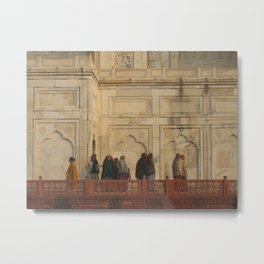 Taj Mahal Pilgrims in Agra, India (2004h) Metal Print