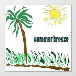 summer breeze minimal sketch Canvas Print