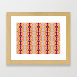Pretty Yellow Red Ribbons Framed Art Print