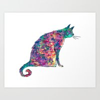 Groovy Cat Art Print