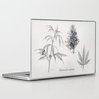 cannabis Laptop & iPad Skins featuring Cannabis sativa by 420Illustrations