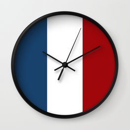 France: French Flag Wall Clock