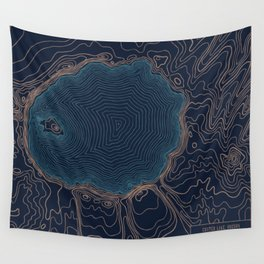 Crater Lake Topo Wall Tapestry