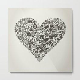Business heart Metal Print