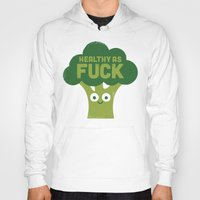 vegetarian Hoodies featuring Raw Truth by David Olenick