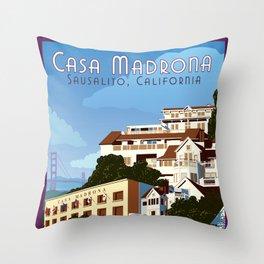 Casa Madrona Throw Pillow