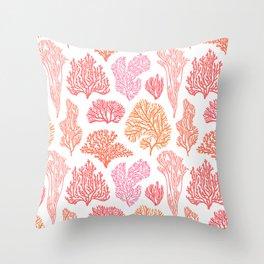 Coral Mania Throw Pillow