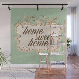 Home sweet home housewarming welcome gift art print Wall Mural