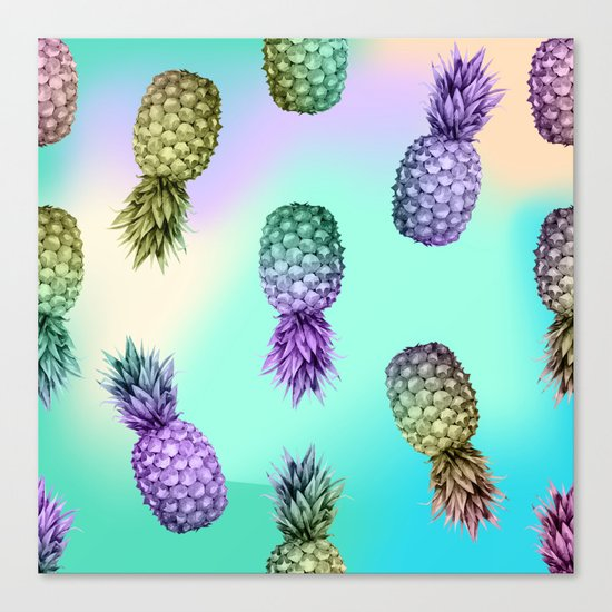Pineapple Glow Canvas Print