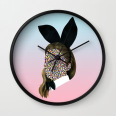 Bunny Girl Wall Clock