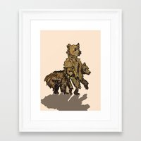onward Framed Art Prints featuring Onward by Lianna Rai
