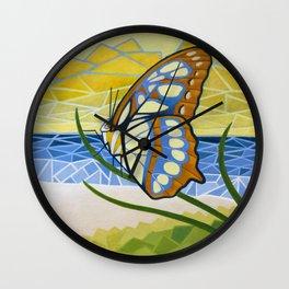 Beach Butterfly Wall Clock