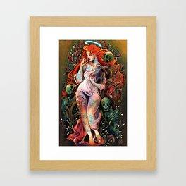 La Muertedel Romanticismo Framed Art Print