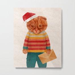 Oakley the Catster Metal Print
