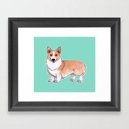 Pembroke Welsh Corgi dog Framed Art Print