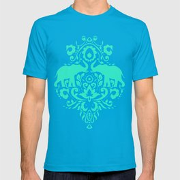 Elephant Damask Mint T-shirt