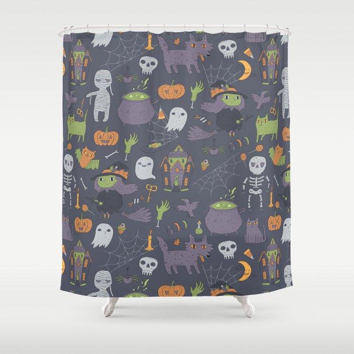 Cute Happy Halloween Shower Curtain