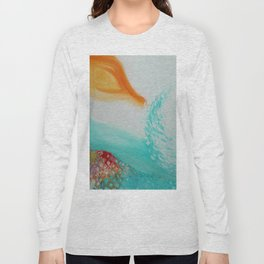 """Cristalda e Pizzomunno"" Original oil finger painting by Monika Toth Long Sleeve T-shirt"