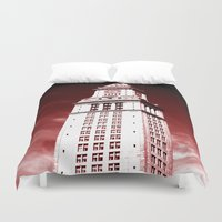 custom Duvet Covers featuring Custom House by Gold Street Prints