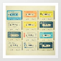 yellow Art Prints featuring All Tomorrow's Parties by Cassia Beck