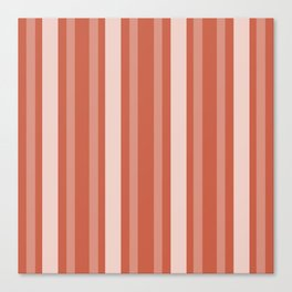 Dark Coral Victorian Lady Stripe Canvas Print