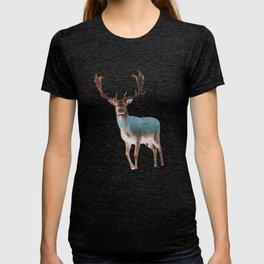 Deer Double Exposure T-shirt