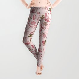Pink values Floral Surface Pattern  Leggings